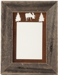 "5"" x 7"" barnwood frames with 3-image rusted metal mat"