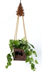 "6"" hanging bear planter"