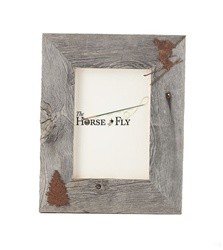 4X6 5X7 & 8X10 two-image rustic barnwood ski picture frames