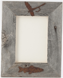 4X6 5X7 & 8X10 two-image rustic barnwood picture frames