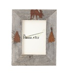 4X6 5X7 & 8X10 two-image rustic barnwood moose picture frames