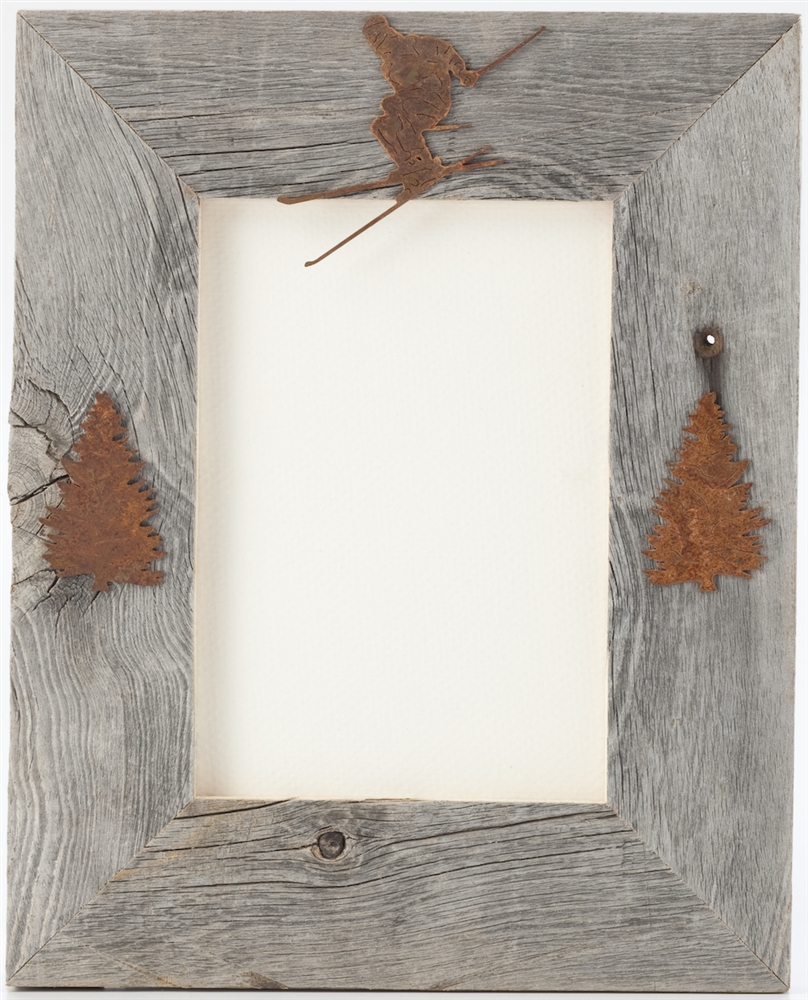 4X6 5X7 & 8X10 Three Image Barnwood Frames | The Horse Fly Home Decor