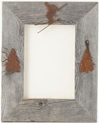 4X6 5X7 & 8X10 three-image rustic barnwood picture frames