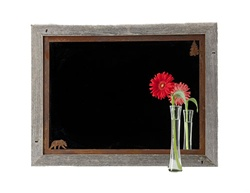 20X27 Wood Frame Rustic Bear Mirror with Corner Image Rusted Metal Mat