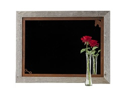 20X27 Wood Frame Decorative Horse Mirror with Corner Image Rusted Metal Mat
