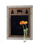 20X27 wood frame moose mirror with 3-image metal mat
