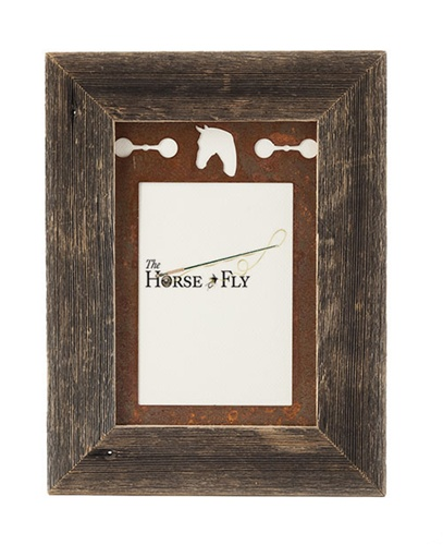 5X7 Barnwood Frames with 3-Image Metal Horse Mat at The Horse Fly ...