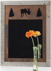 20X27 three-image knotty barnwood frame mirror