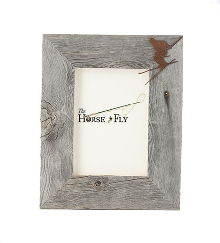 4X6 5X7 & 8X10 One Image Barnwood Ski Frame | The Horse Fly Home Decor