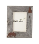 4X6 5X7 & 8X10 two-image rustic barnwood bear picture frames