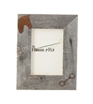 4X6 5X7 & 8X10 two-image rustic barnwood horse picture frames