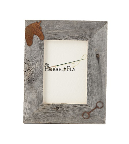 4X6 5X7 & 8X10 Two Image Barnwood Horse Frame | The Horse Fly Home Decor