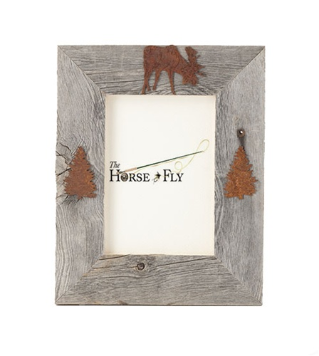 4X6 5X7 & 8X10 Three Image Barnwood Moose Frame | The Horse Fly Home ...