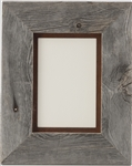 5X7 & 8X10 Barnwood Picture Frame with Rusted Metal Mat