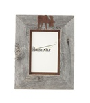 5X7 & 8x10 One-Image Barnwood Moose Frame with Rusted Metal Mat