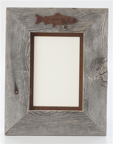 5X7 & 8x10 One-Image Barnwood Frame with Rusted Metal Mat | The ...
