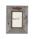 5X7 & 8x10 One-Image Barnwood Fly Fishing Frames with Rusted Metal Mat