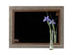 20X27 Wood Frame Rustic Moose Mirror with Corner Image Rusted Metal Mat