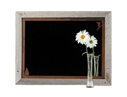 20X27 Wood Frame Decorative Skier Mirror with Corner Image Rusted Metal Mat